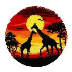 Verachtert Tapis au point noué  girafes , 55 cm Ø Tapis au point noué... par LeGuide.com Publicité