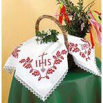 Napperon à broder, motif  IHS, feuilles de chêne  Napperon à broder,... par LeGuide.com Publicité