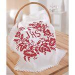 Napperon à broder, motif  IHS, ramages de feuilles , blanc Napperon à... par LeGuide.com Publicité