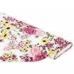 Tissu crêpe  fleurs , ivoire/rose Tissu crêpe  fleurs , ivoire/rose,légèrement... par LeGuide.com Publicité