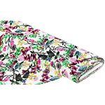 Tissu mélange viscose/lin  fleurs & plantes , multicolore Tissu mélange... par LeGuide.com Publicité