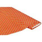 Tissu satin pour blouses  motif graphique , orange multicolore Tissu... par LeGuide.com Publicité