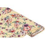 Tissu jersey en viscose  bouquet de fleurs , jaune multicolore Tissu... par LeGuide.com Publicité