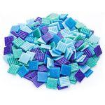Tesselles en verre, tons bleus, 20 x 20 mm, 750 g Tesselles en verre,... par LeGuide.com Publicité