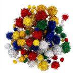 Set de pompons scintillants, Ø 4 - 25 mm Ø, 100 pièces Set de pompons... par LeGuide.com Publicité