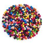 Perles en bois, multicolore, 6 - 8 mm, 50 g Perles en bois, multicolore,... par LeGuide.com Publicité
