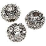 Perles en laiton avec pierres strass, argenté, Ø 12 mm, 3 pièces Perles... par LeGuide.com Publicité