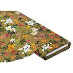 Tissu de décoration  fleurs  à impression numérique, vert olive multicolore... par LeGuide.com Publicité