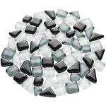 Tesselles en verre doux, tons gris, 10 - 20 mm, 200 g Tesselles en verre... par LeGuide.com Publicité