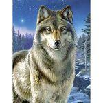 Peinture aux numéros  loup , avec des peintures acryliques, 23 x 30,5... par LeGuide.com Publicité
