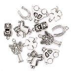 Set de pendentifs  porte-bonheur , argent, 1 - 2,5 cm, 12 pièces Set... par LeGuide.com Publicité