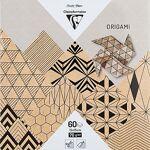 Papier origami  Krafty , marron/noir, 15 x 15 cm, 60 feuilles Papier... par LeGuide.com Publicité