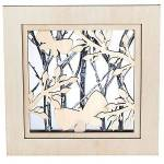 Cadre 3D  printemps , 25 x 25 x 5 cm Cadre 3D  printemps , en bois brut,... par LeGuide.com Publicité