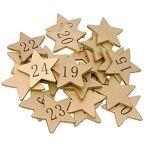 Chiffres pour calendrier de l'Avent  étoiles , or Chiffres pour... par LeGuide.com Publicité