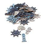 Motifs déco  mer , crème/bleu clair/gris/bleu foncé, 2,5-4,5 cm, 60 pièces... par LeGuide.com Publicité