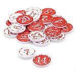 Boutons déco  chiffres pour calendrier de l´Avent , rouge/blanc Boutons... par LeGuide.com Publicité