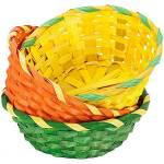 Corbeilles en bambou Corbeilles en bambou, couleurs : orange, vert, jaune,... par LeGuide.com Publicité