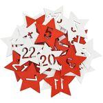 Chiffres pour calendriers de l´Avent  étoiles , rouge/blanc, 2,5 cm,... par LeGuide.com Publicité