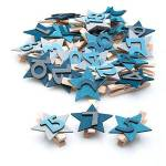 Chiffres pour calendrier de l´Avent  étoiles , avec pince Chiffres pour... par LeGuide.com Publicité