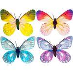 Papillons, avec pince, 8 cm, 4 pièces Papillons,en papier, avec pince,... par LeGuide.com Publicité