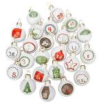Chiffres pour calendrier de l'Avent  boules de Noël , en verre,... par LeGuide.com Publicité