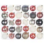 Set de boules de Noël, en plastique, 6 cm et 7 cm Ø Set de boules de... par LeGuide.com Publicité