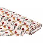 Tissu jersey en coton  Bambi  avec de l'élasthanne, rose multicolore... par LeGuide.com Publicité