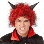 Perruque  diable , rouge/noir Perruque  diable , rouge/noir,avec des... par LeGuide.com Publicité