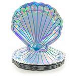 Assiettes en carton  sirène , argent, 8 pièces Assiettes en carton  sirène... par LeGuide.com Publicité