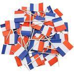 Piques apéro  drapeau français , 8 cm Piquesapéro drapeau français... par LeGuide.com Publicité
