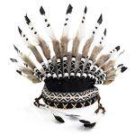 Coiffe d'Amérindien  pied noir , blanc/noir/marron Coiffe d'Amérindien... par LeGuide.com Publicité