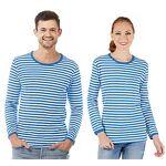 Shirt rayé à manches longues  rayures bleues  pour hommes ou femmes Shirt... par LeGuide.com Publicité
