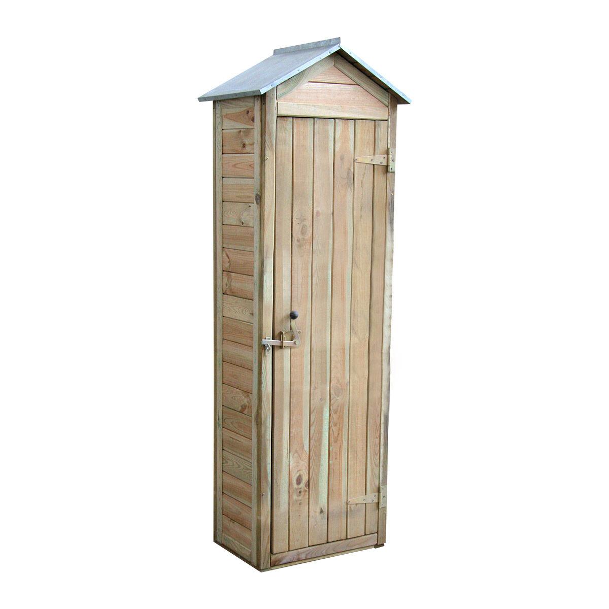 Cémonjardin Armoire de rangement de jardin en bois traité 180x60x43cm, Panama