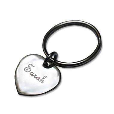 Porte-clés gravé petit coeur