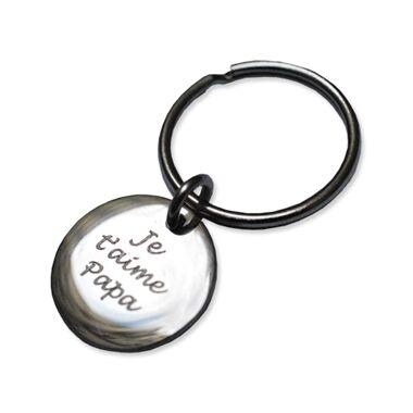 Porte-clés gravé petit rond
