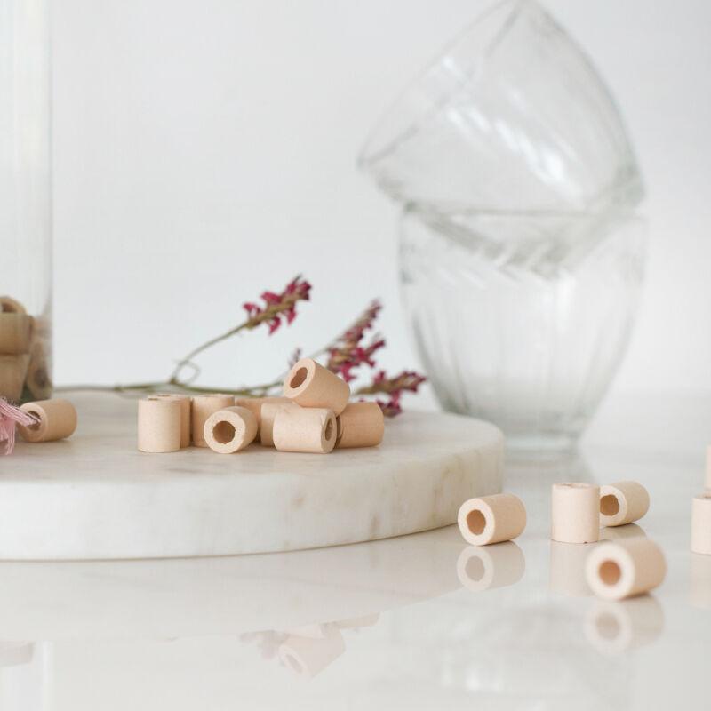 EM Perles roses - Vrac et détail