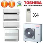 toshiba  Toshiba SHORAI Quadri-Split RAS-4M27U2AVG-E + 3 X RAS-M07PKVSG-E... par LeGuide.com Publicité