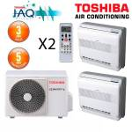 toshiba  Toshiba Bi-Split RAS-2M18S3AV-E + 2 X RAS-B10UFV-E1 Bi-Split 5... par LeGuide.com Publicité