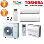 toshiba  Toshiba Tri-Split RAS-3M18S3AV-E + 2 X RAS-M07N3KV2-E1 + RAS-B10UFV-E1... par LeGuide.com Publicité