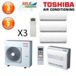 toshiba  Toshiba Quadri-Split RAS-4M27S3AV-E + 3 X RAS-M07N3KV2-E1 + RAS-B10UFV-E1... par LeGuide.com Publicité