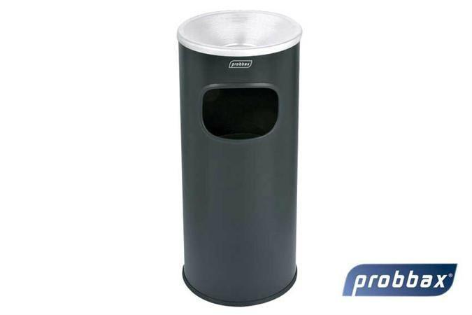 CHRselect Poubelle avec Cendrier Noir Récipient 30 Litres Eteint les Feux 250x250x650mm