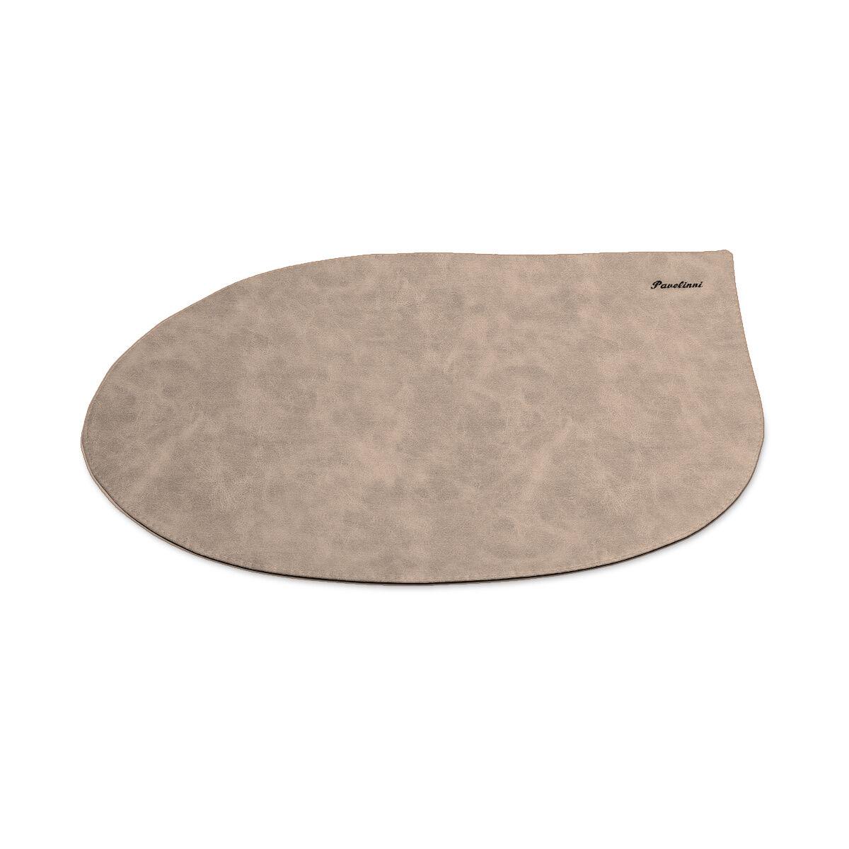 Pavelinni Set de Table Drop Vintage Cuir Rond 300x450mm Disponible en 8 Couleurs