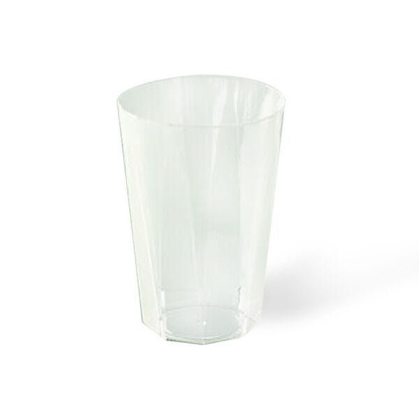 Verre octogonal en plastique rigide transparent (25 cl) x 20