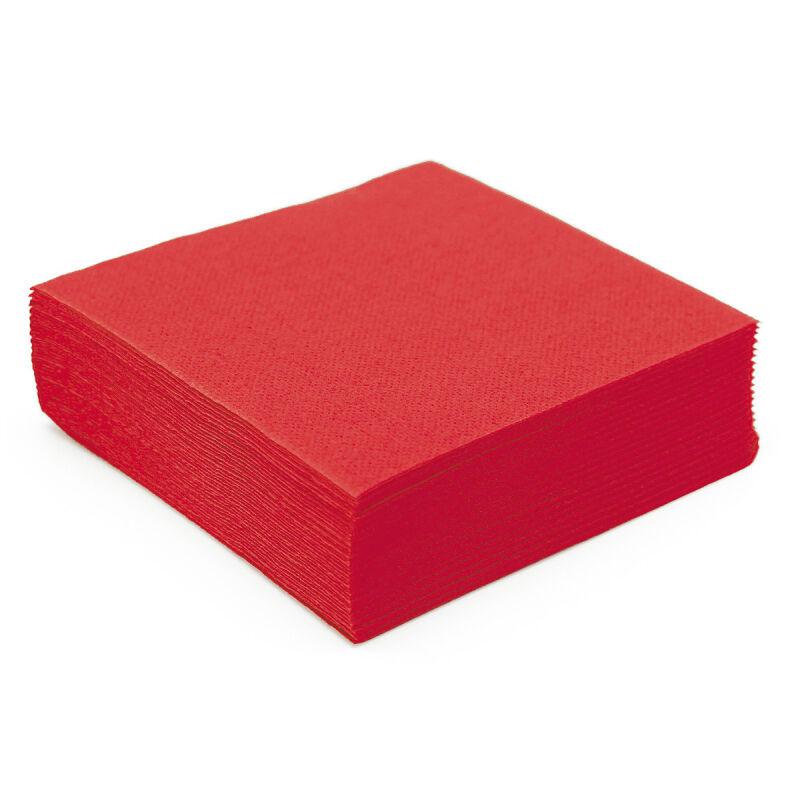 Serviette en papier micro gaufrée rouge (38 cm) x 50