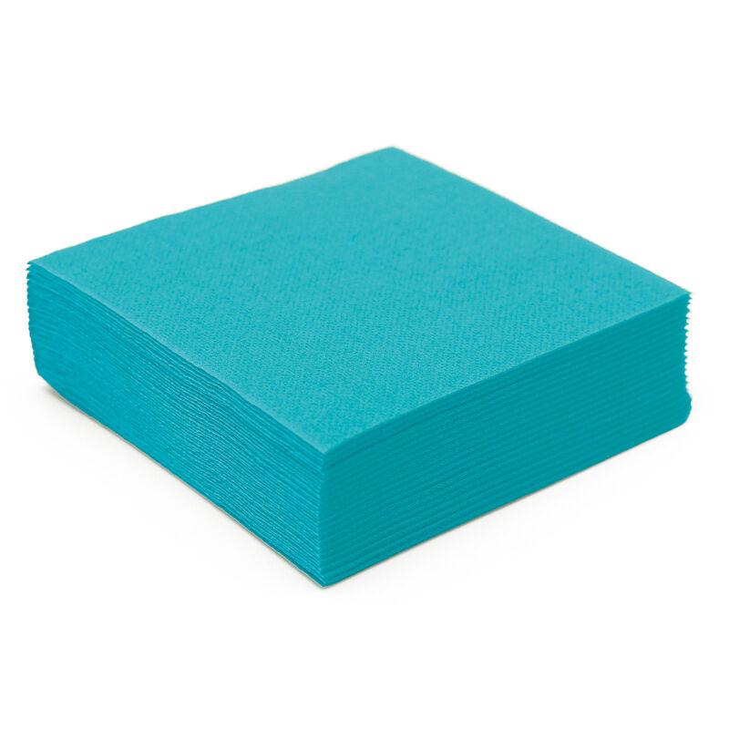 Serviette papier micro gaufrée turquoise (38 cm) x 50