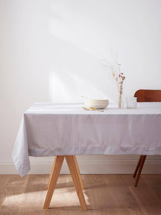 CYRILLUS Nappe anti-taches aspect lin gris perle taille: 170X300