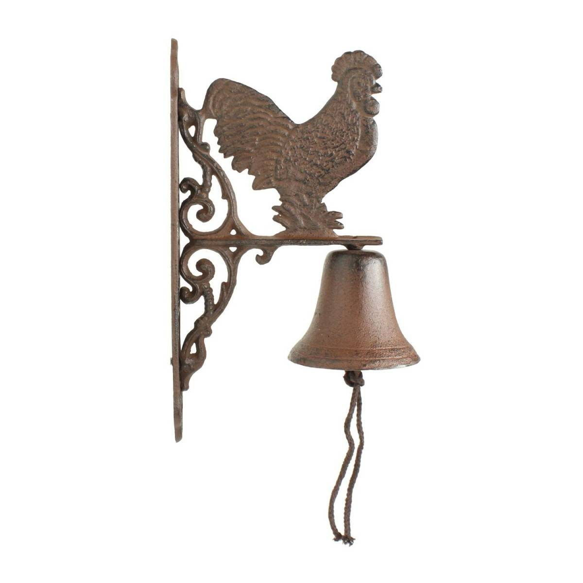 Décoration d'Autrefois Cloche Coq Fonte - Marron