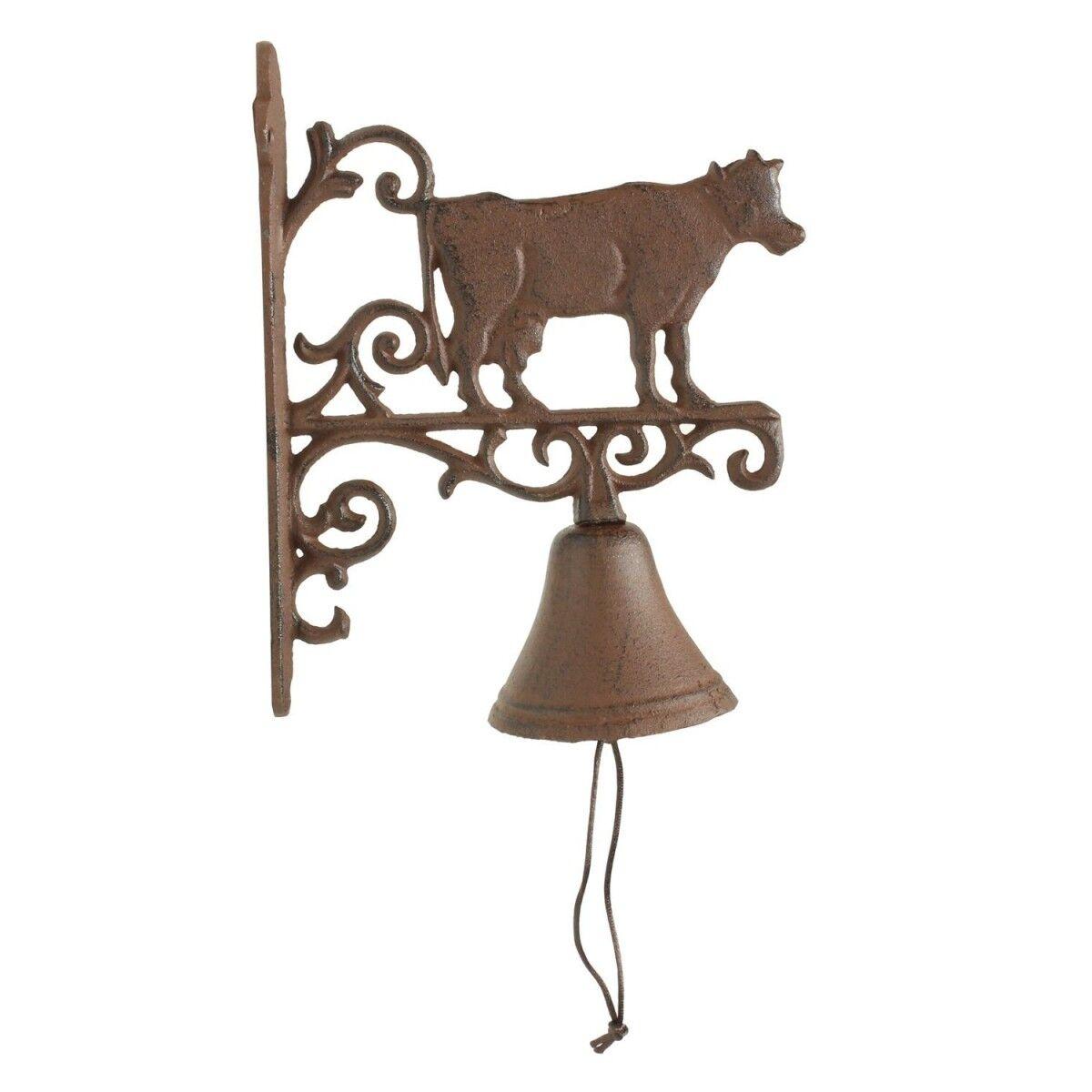 Décoration d'Autrefois Cloche Vache Fonte - Marron