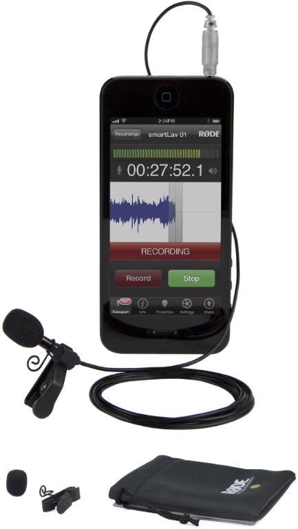 RODE Microphone Lavalier SMARTLAV+ pour Iphone et IPad