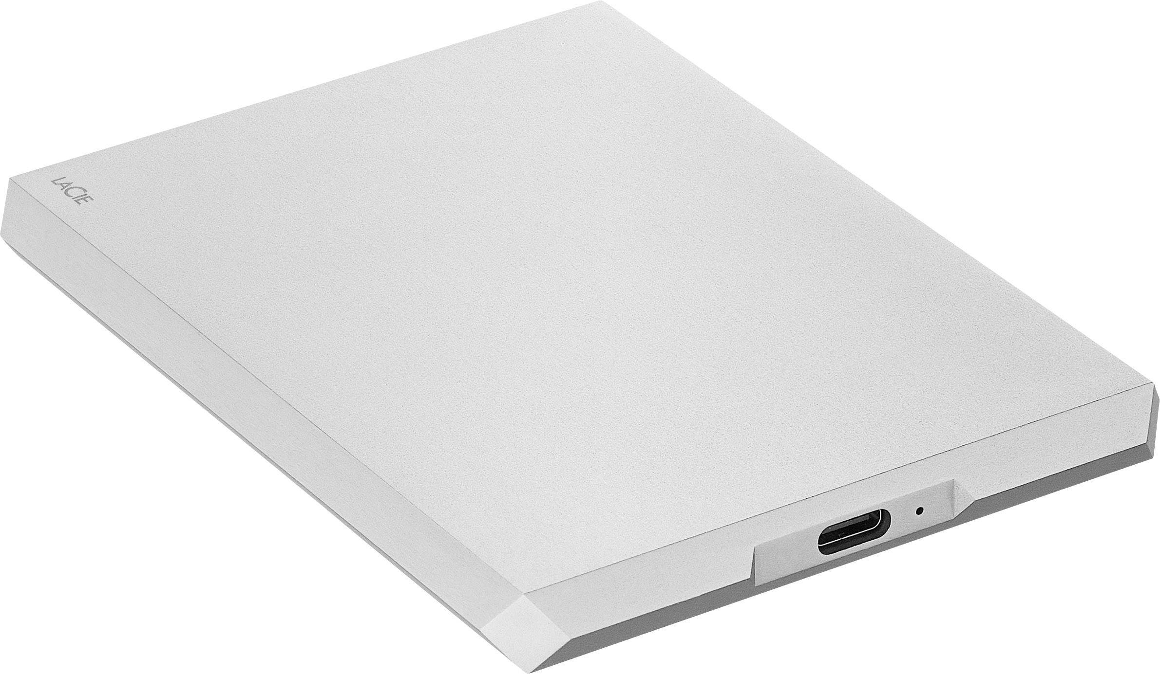 LaCie Disque Dur Mobile Drive Moon Silver USB-C 1TB